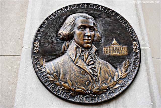 Placa Señalando el Lugar de Nacimiento de Charles Bulfinch en Boston