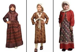 Aneka gamis batik muslim