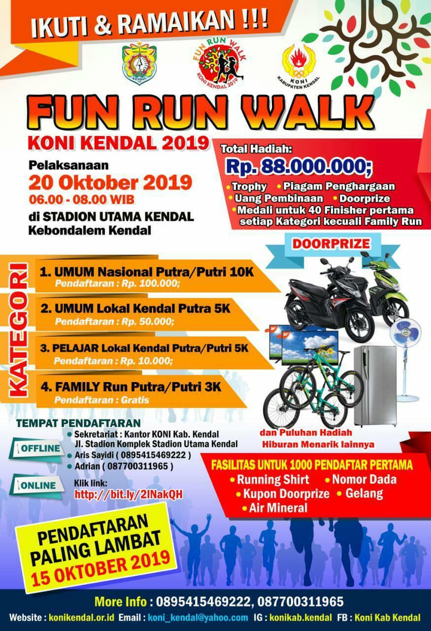 Fun Run/Walk KONI Kendal • 2019