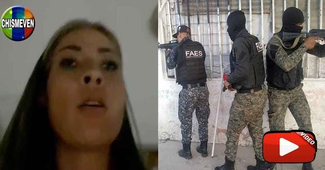 Régimen de Maduro acosa  con el FAES a la periodista Mildred Manrique