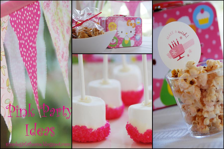 simple girl pink birthday