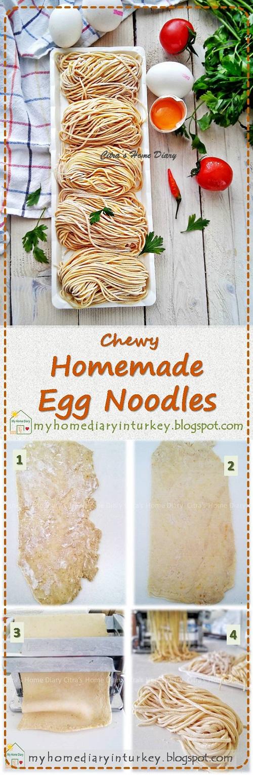 Cara Membuat Mie Telor : membuat, telor, Citra's, Diary:, Membuat, Telur, Kenyal, Homemade, Noodle