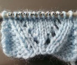 tricoter 1 maille 2 fois