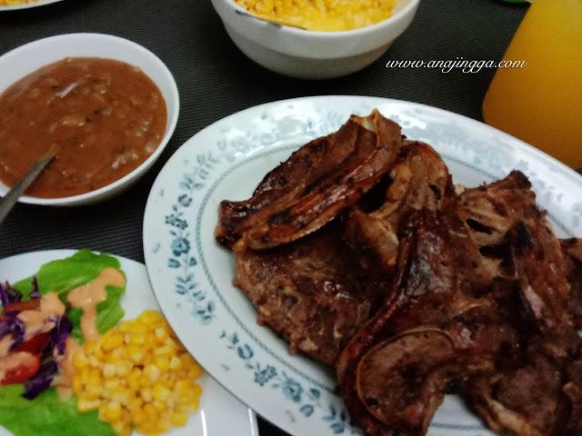 Resepi gravy blackpepper sauce untuk lamb chop