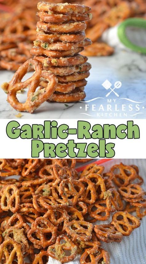 GARLIC-RANCH PRETZELS #Garlic #Dessert #Ranch #Pretzels #Cookies #cookiesrecipe