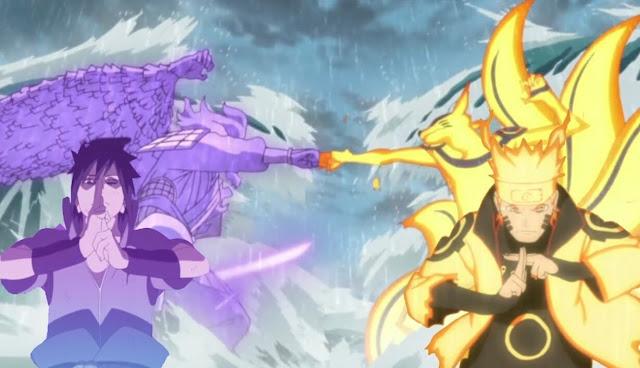 Trận chiến cuối cùng giữa Naruto với Sasuke