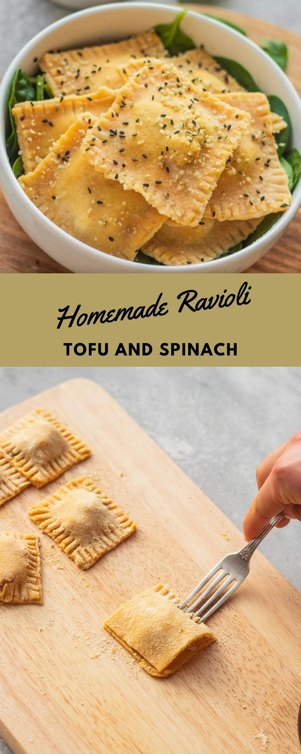 Homemade Ravioli With Tofu And Spinach