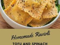 Homemade Ravioli With Tofu And Spinach
