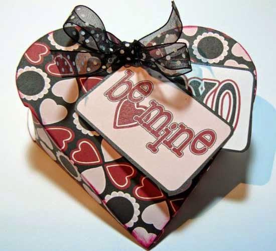 Caja con forma de corazón