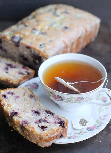 Blueberry Lemon Sour Cream Quick Bread