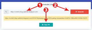cara buat blog safelink klik 2 kali dan random artikel