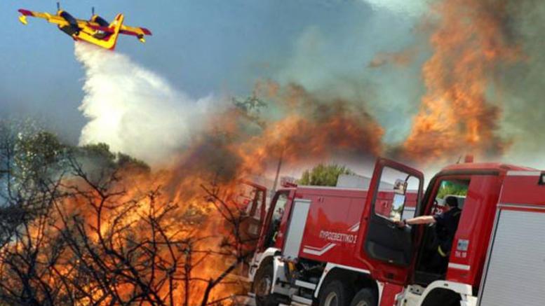 Πολύ υψηλός κίνδυνος πυρκαγιάς σε Αττική, Βόρειο Αιγαίο και Εύβοια [χάρτης]