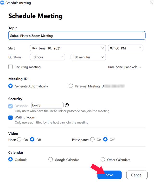 Cara Membuat Schedule Meeting di Zoom
