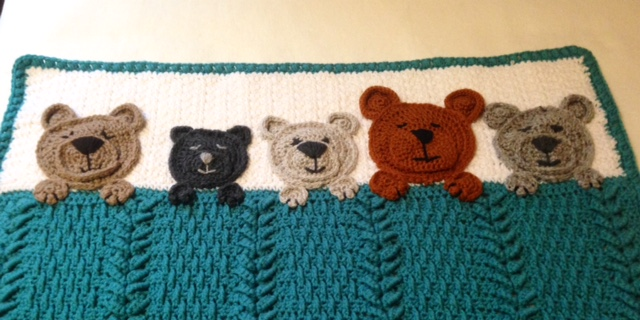CROCHET BLANKET PATTERN Bear Love Crochet Baby Blanket | Etsy | 320x640
