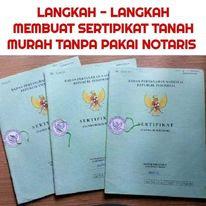 Cara Mengurus sertifikat maju sendiri tanpa calo dan notaris