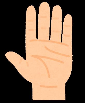手の平のイラスト