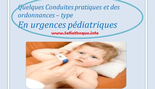 Conduites Pratiques et Ordonnances Type En urgences Pédiatriques PDF