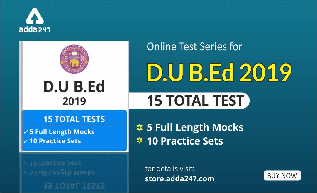 D.U B.Ed Test Series