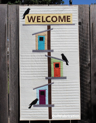 Welcome to My Birdhouse wall hanging by QuiltFabrication