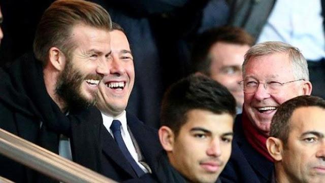 David Beckham Tertawa Melihat Arsenal Dibantai Man United