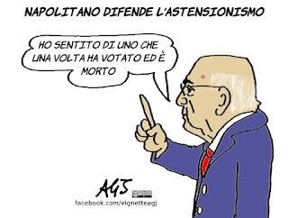 referendum, 17 aprile, napolitano, astensione, vignetta, satira