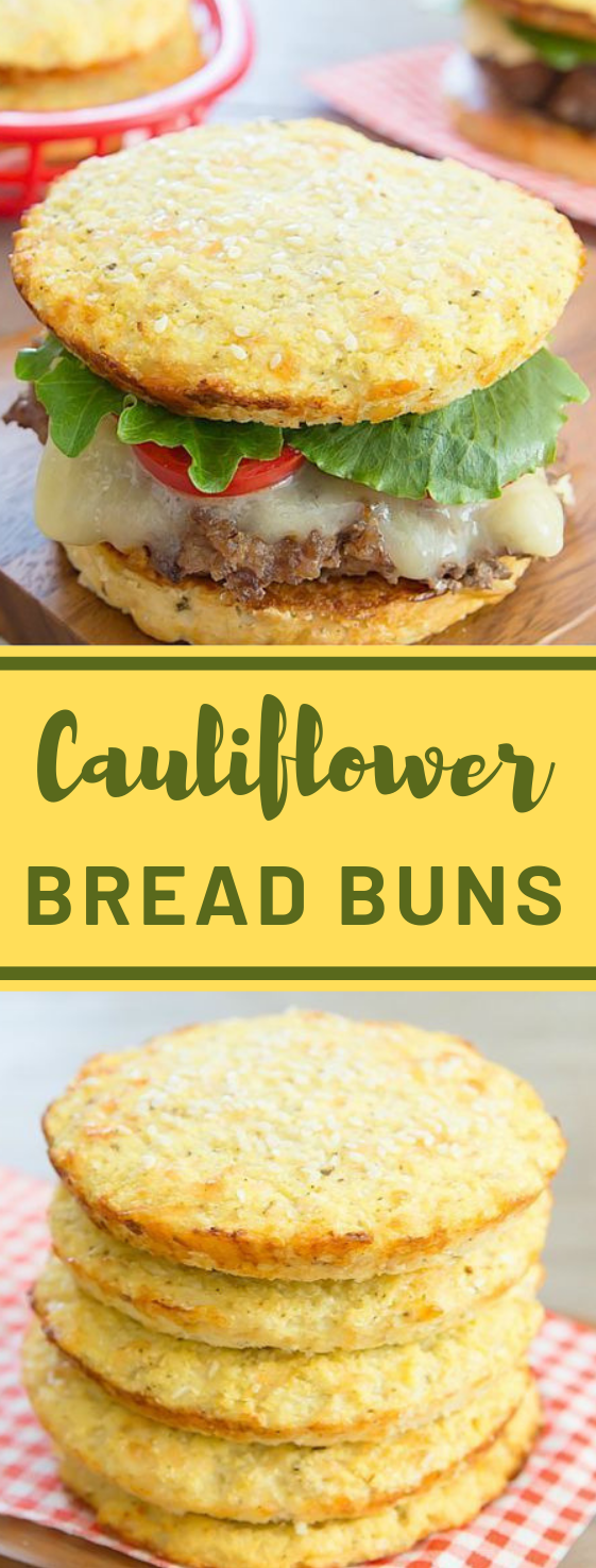 CAULIFLOWER BREAD BUNS #cauliflower #vegetarian #vegan #easy #food
