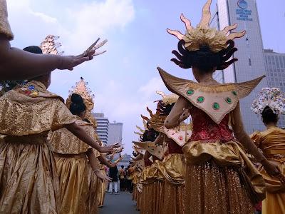 Antusias Pawai Obor Asian Para Games 2018 di Jakarta Bentuk Dukungan Bagi Atlet Difabel Untuk Inspirasi Dunia