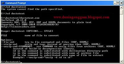 Cara Memperbaiki File Word Dan Excel Yang Rusak Dengan Corrupt Docx2txt