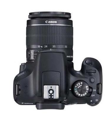 canon eos 1300d vista superior y modos