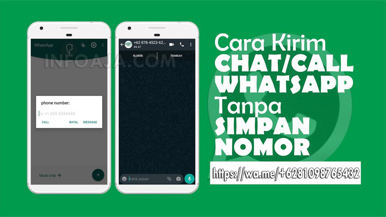 Chat WhatsApp Tanpa Menyimpan Nomor