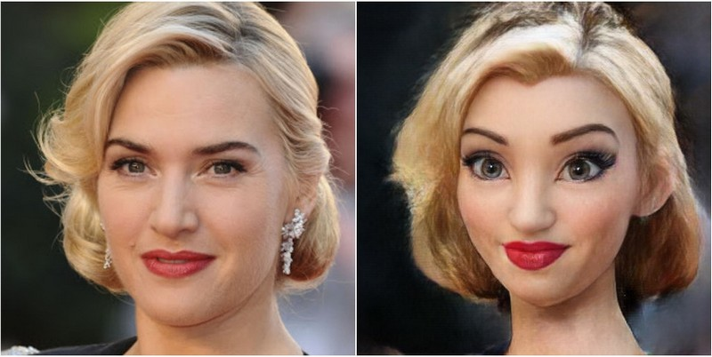 Kate Winslet Transform into Disney characters using neural networks