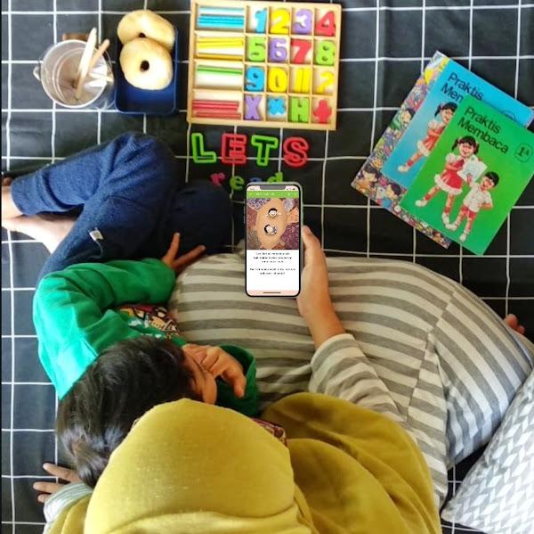 Membaca Nyaring Untuk Anak Dengan Aplikasi Let's Read