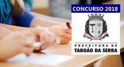 Concurso Prefeitura de Taboão da Serra SP 2018