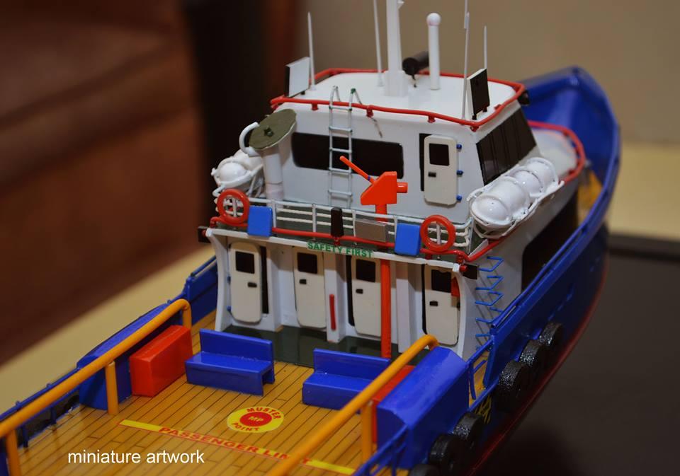 tempat jual harga murah miniatur kapal crew boat cb gelatik pt baruna raya logistics planet kapal rumpun artwork bergaransi