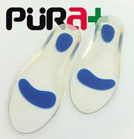 Plantillas Recortables Punto Azul, Ref. 2464, fabricados con Silicona, Talla 34-39, de color Transp., 1 Par, Postura Fascitis Metatarso.