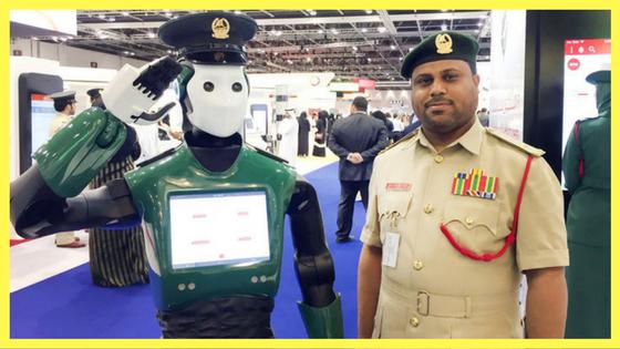 انسان آلي يدخل الخدمة كشرطي بالامارات