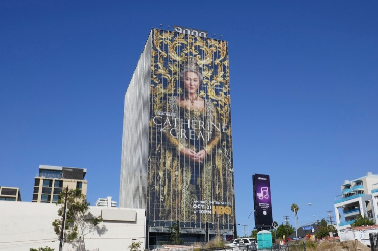 Giant Catherine the Great HBO billboard