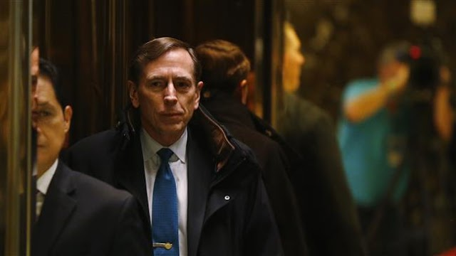 Donald Trump meets with secreatry of state candidate David Petraeus