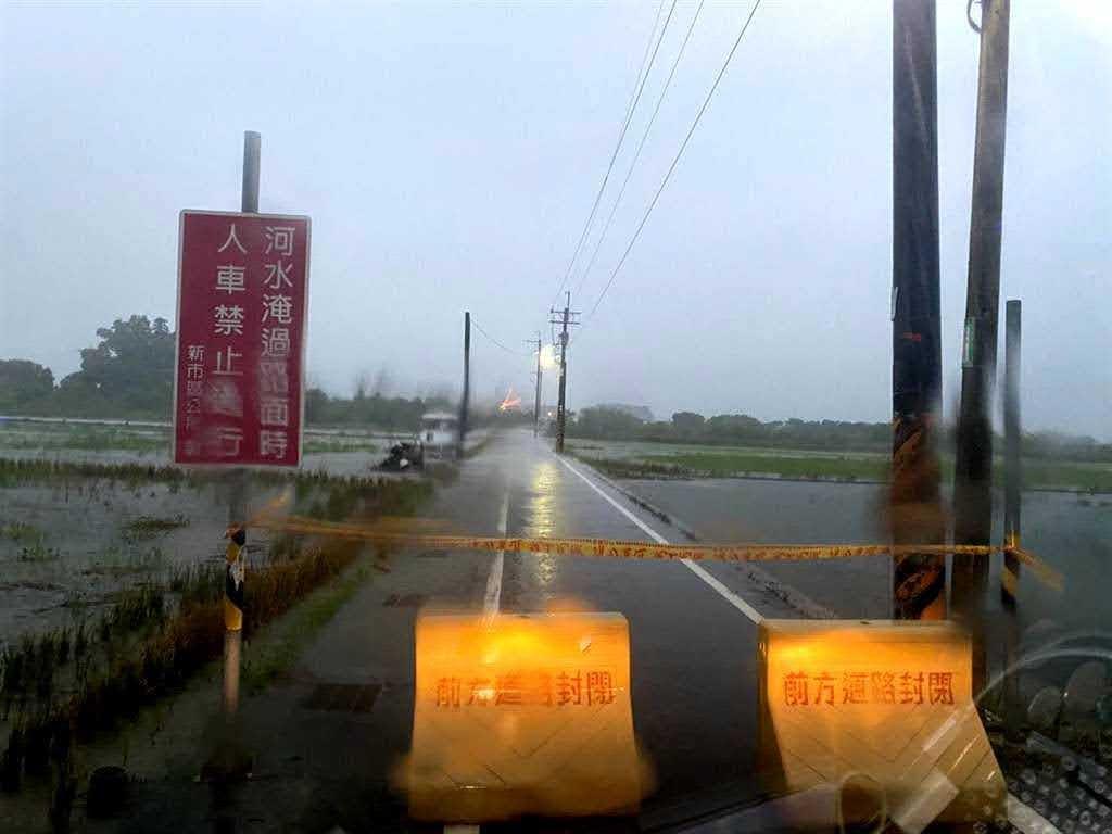 台南接連大雨|積水問題預警性已封閉道路28處、橋梁19座