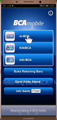 Cara Mutasi BCA Mengunakan m-BCA 1
