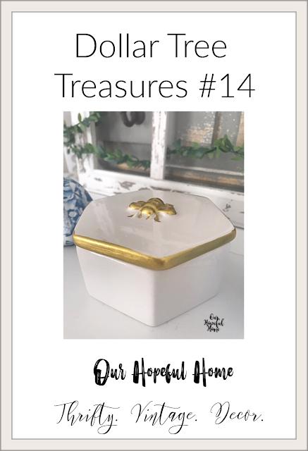 gold bee decor trinket box Dollar tree