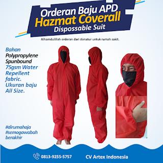 Baju APD Hazmat Coveralls