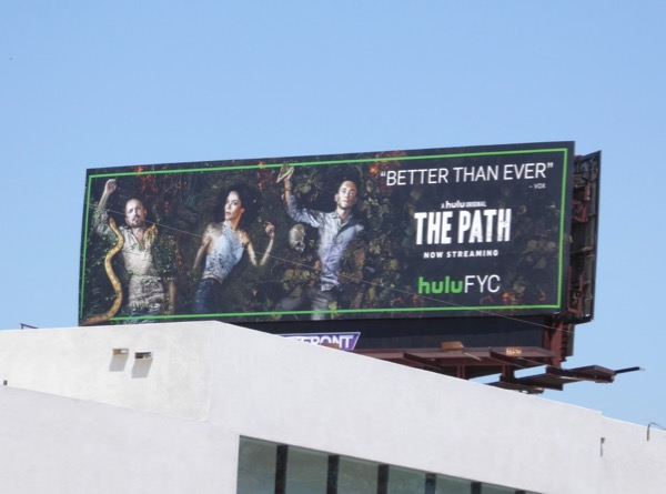 The Path season 2 Emmy billboard