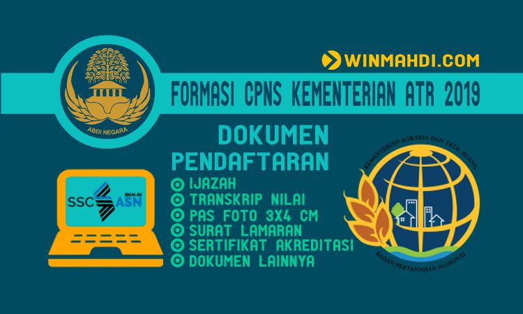 Rincian Formasi CPNS Kementerian ATR BPN 2019