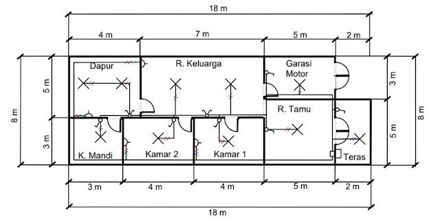 contoh denah skema instalasi listrik rumah