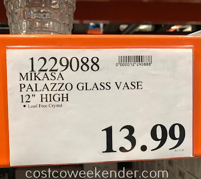 Deal for the Mikasa Palazzo Crystal Vase at Costco