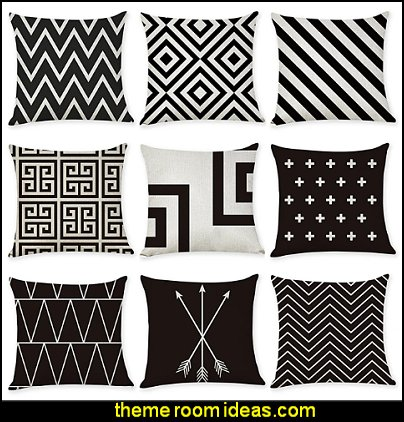 Linen Pillow Covers-  Geometric Pattern Geometic Casual European Throw Pillow LTB