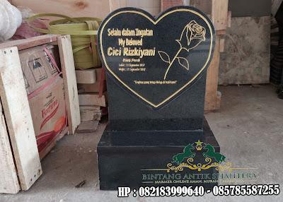 Batu Nisan Granit Bentuk Hati | Pemakaman Batu Nisan Berbentuk Hati
