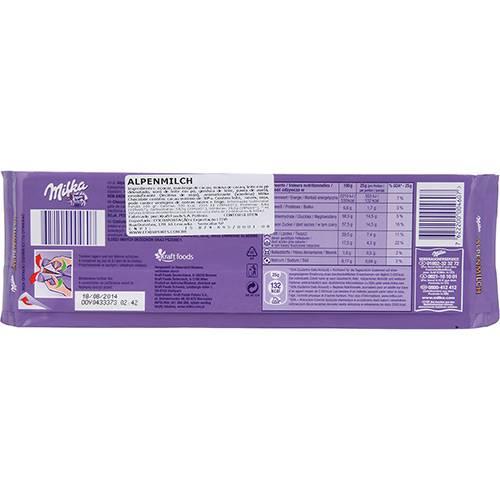 Lojas Americanas Chocolate Milka Alpenmilch 300g
