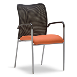 Modern Mesh Back Accent Chair For The Waiting Room